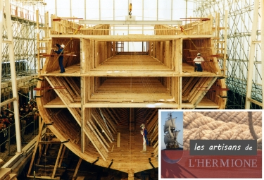 L'Hermione en construction. © Association Hermione-La Fayette.